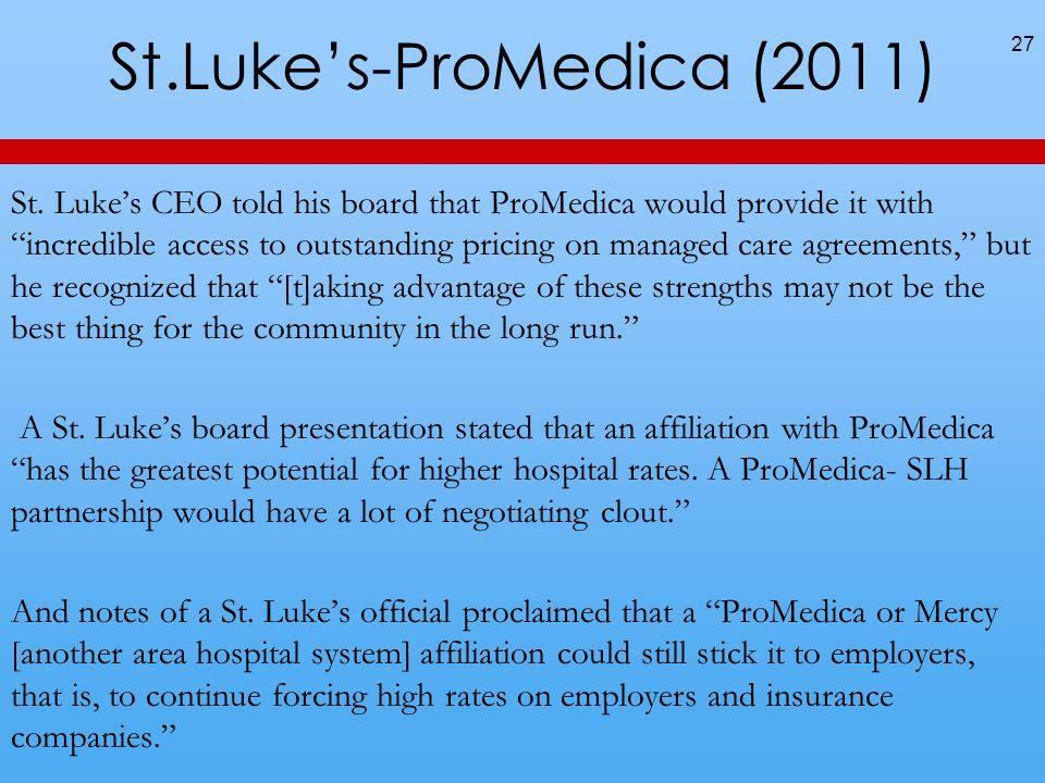 St.Luke's-ProMedica (2011)