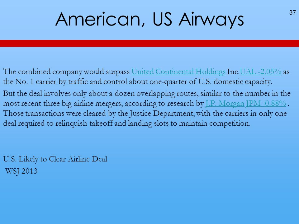 American, US Airways
