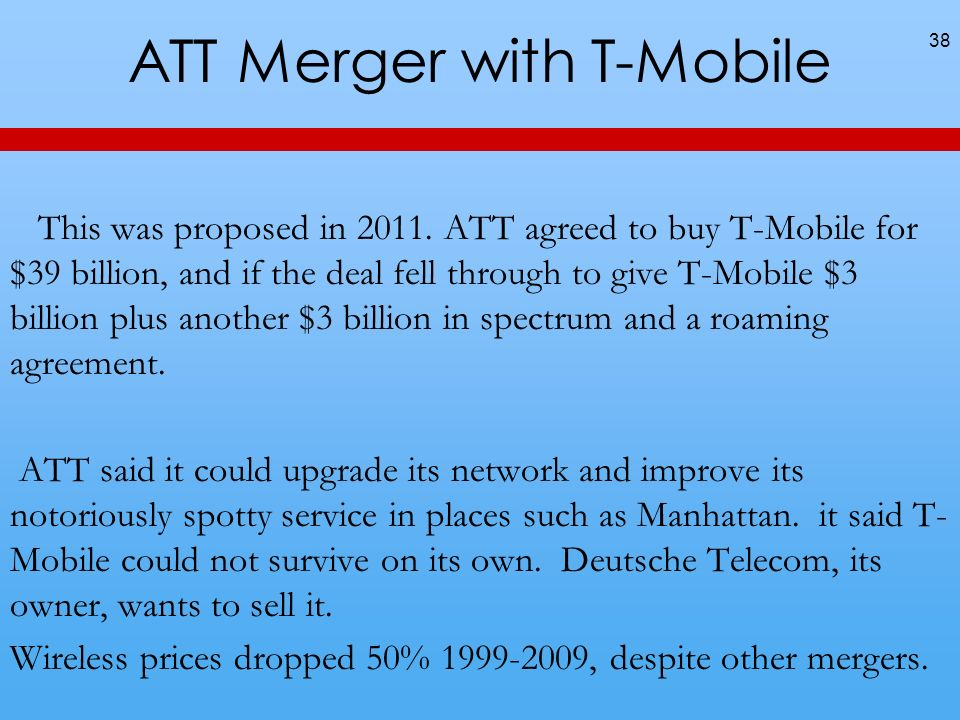 ATT Merger with T-Mobile