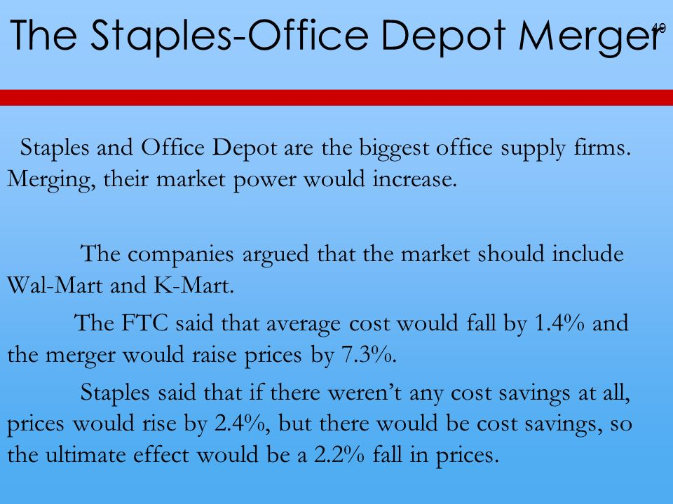 The Staples-Office Depot Merger