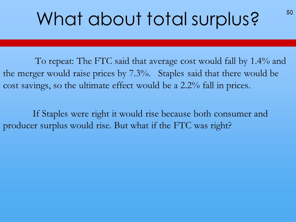 What about total surplus