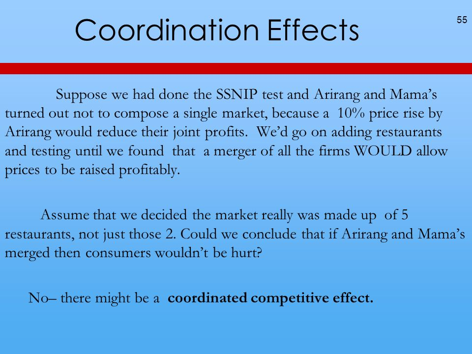 Coordination Effects