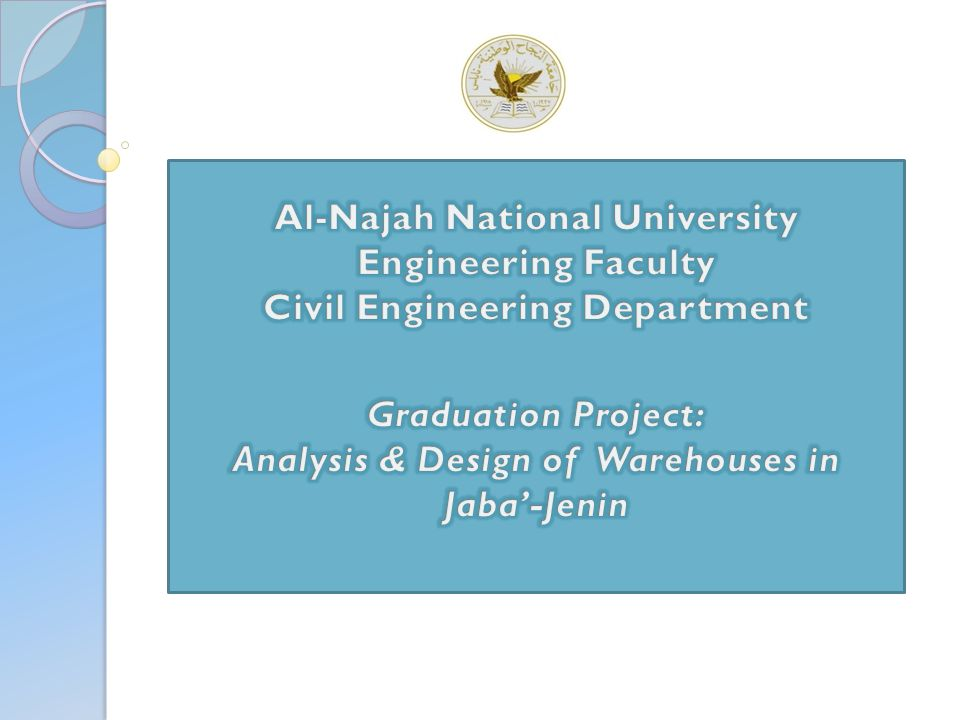 Al-Najah National University Engineering Faculty Civil Engineering