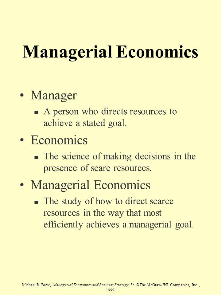 Managerial Economics Manager Economics Managerial Economics