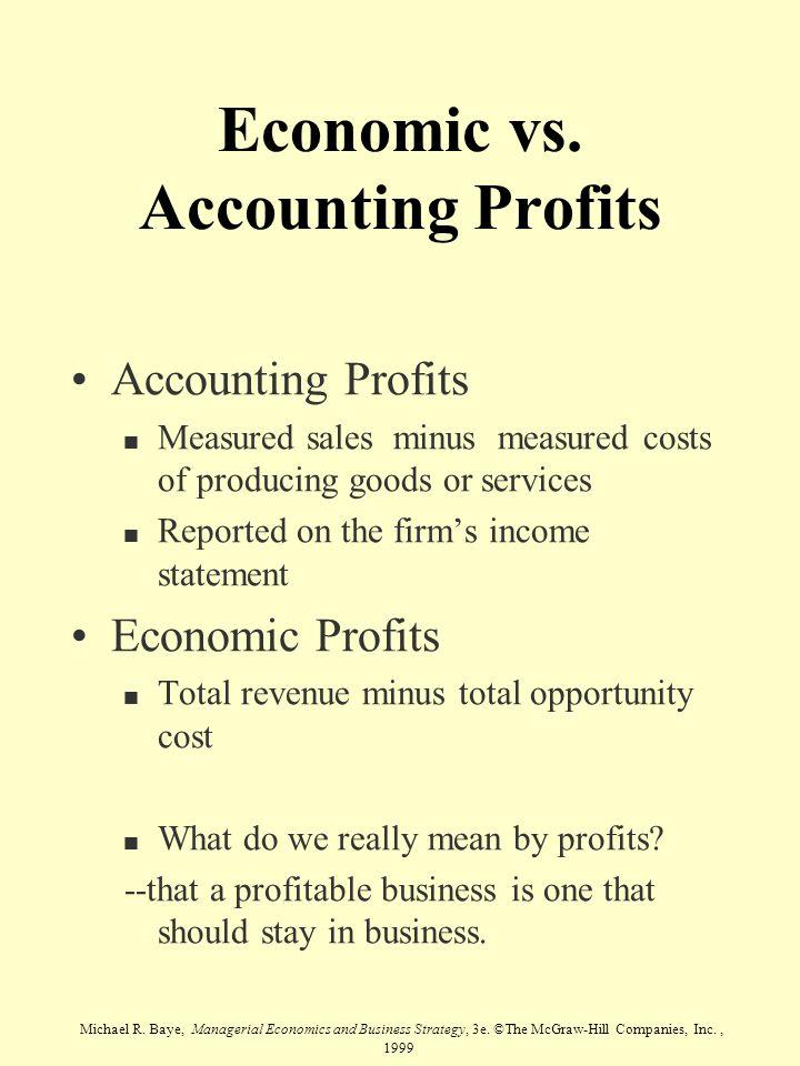 Economic vs. Accounting Profits