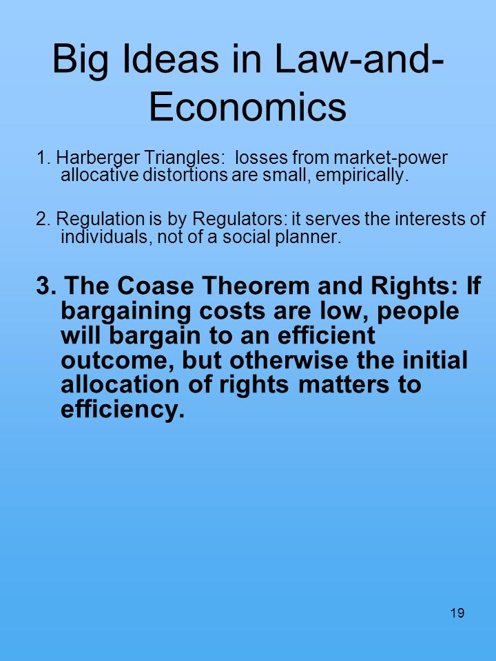 Big Ideas in Law-and-Economics
