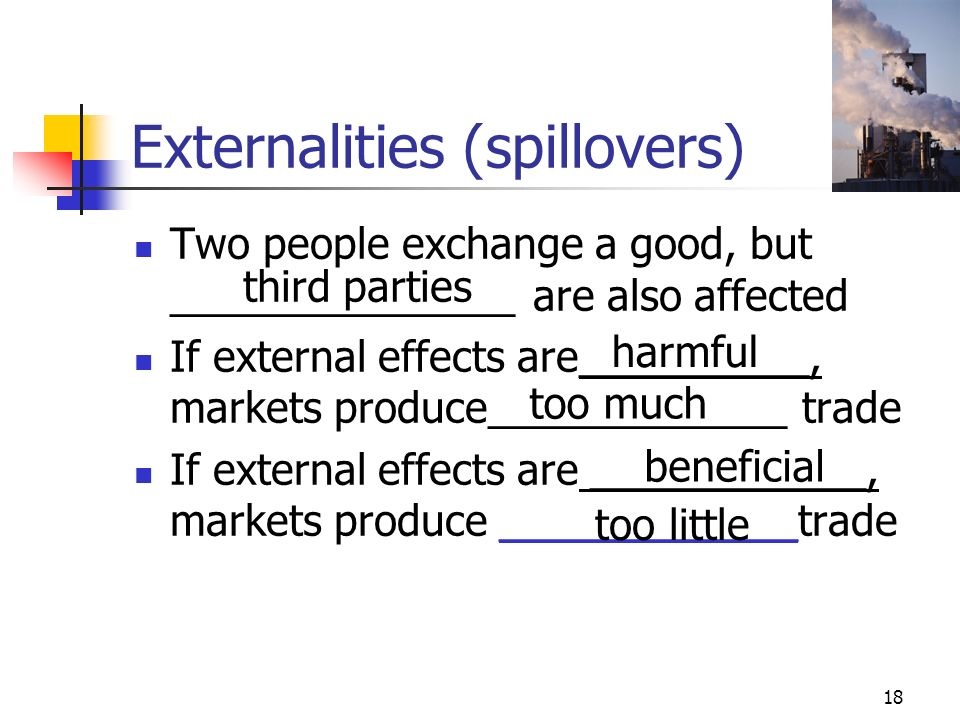 Externalities (spillovers)