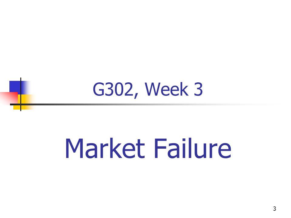 G302, Week 3 Market Failure Juoy 15, 2002 Eric Rasmusen