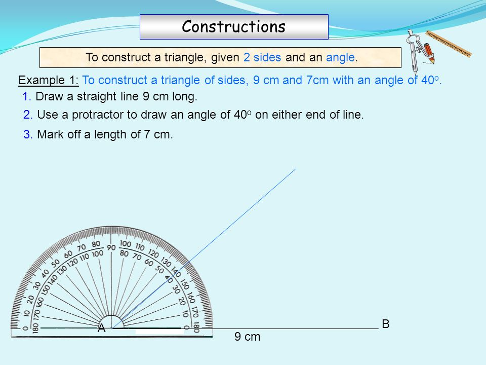 how to find angle when given 2 sides