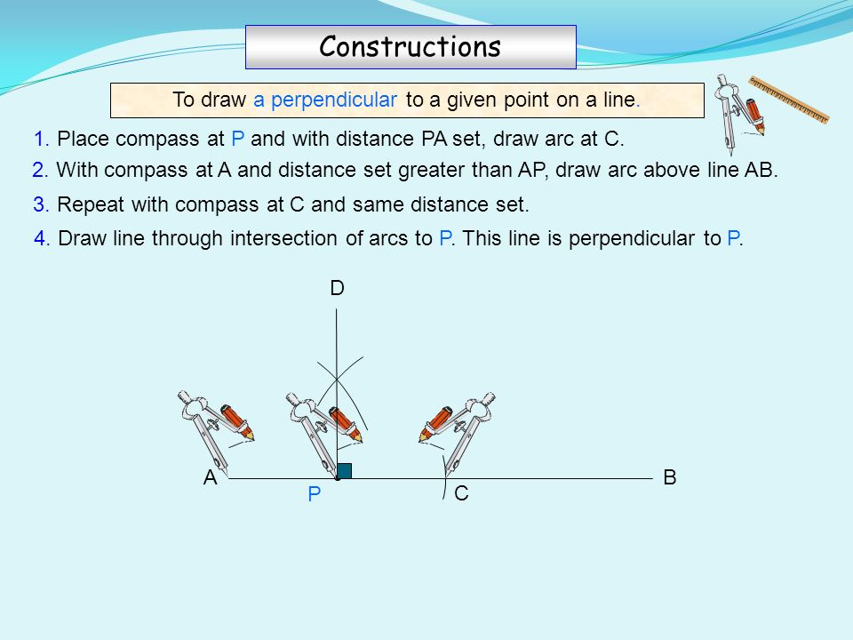 Civil D Draw Line Perpendicular : Ruler compass constructions ppt video online download