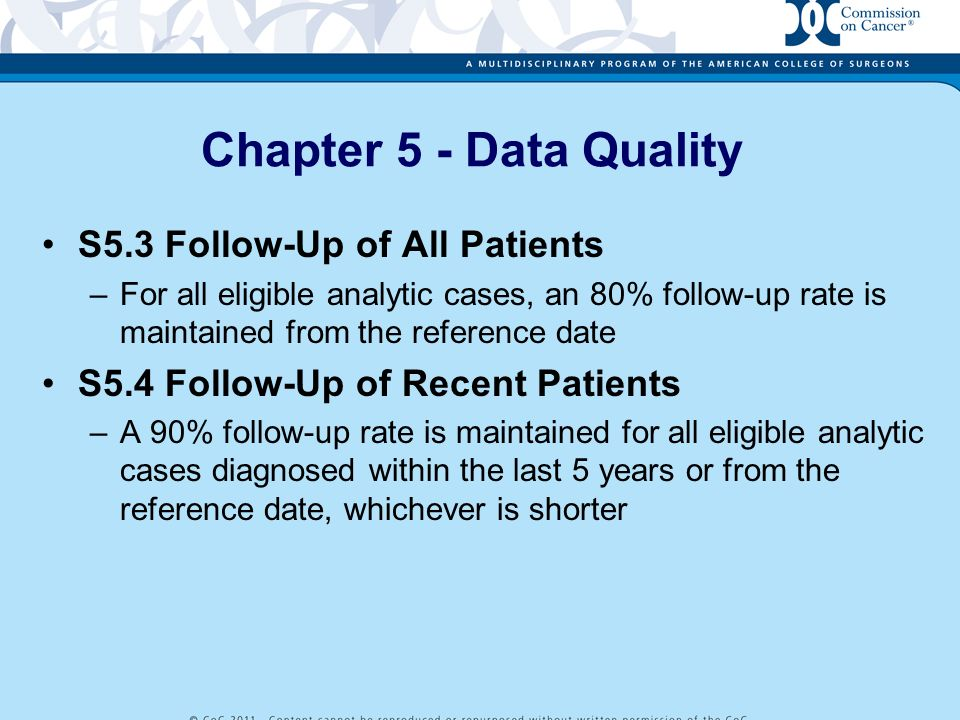 Chapter 5 - Data Quality S5.3 Follow-Up of All Patients