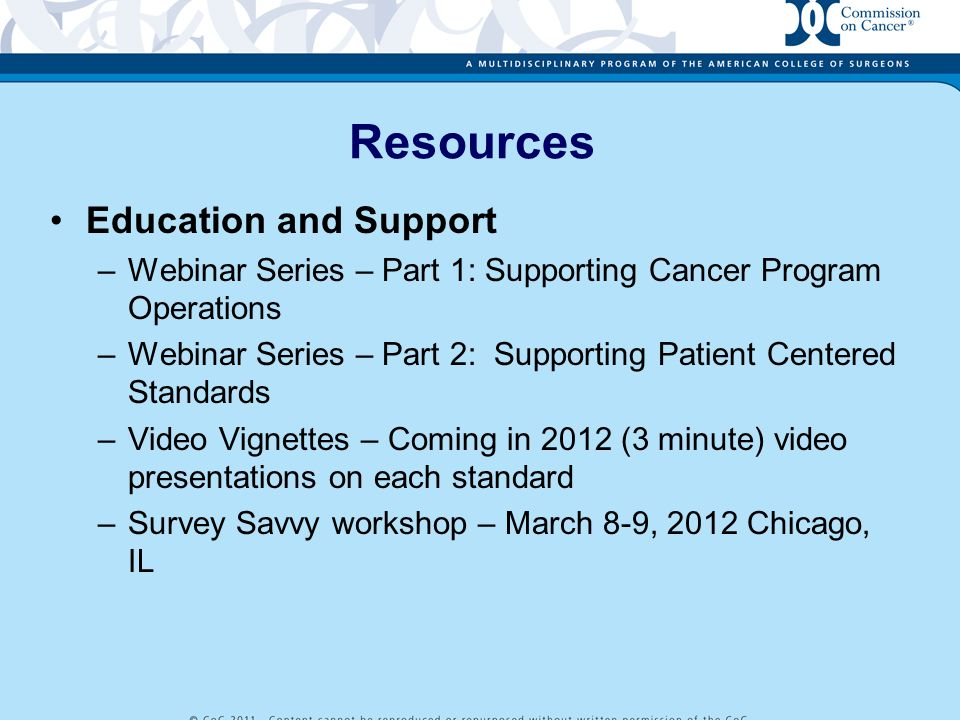 Resources Education and Support