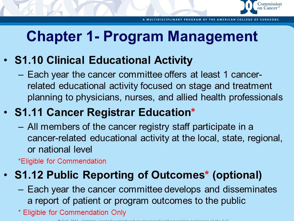 Chapter 1- Program Management