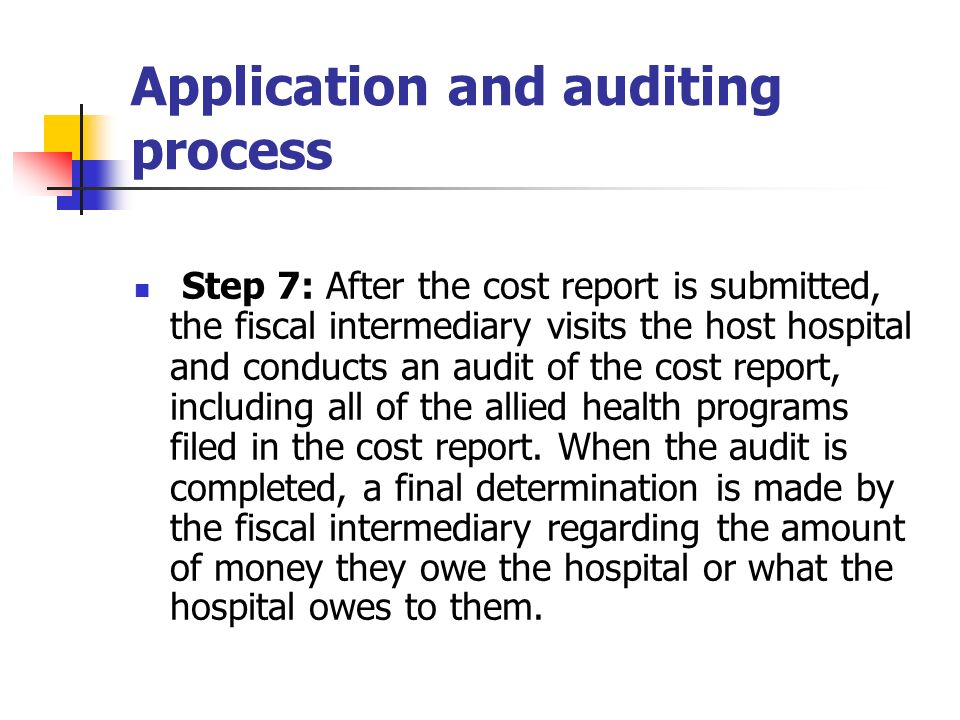 Application and auditing process