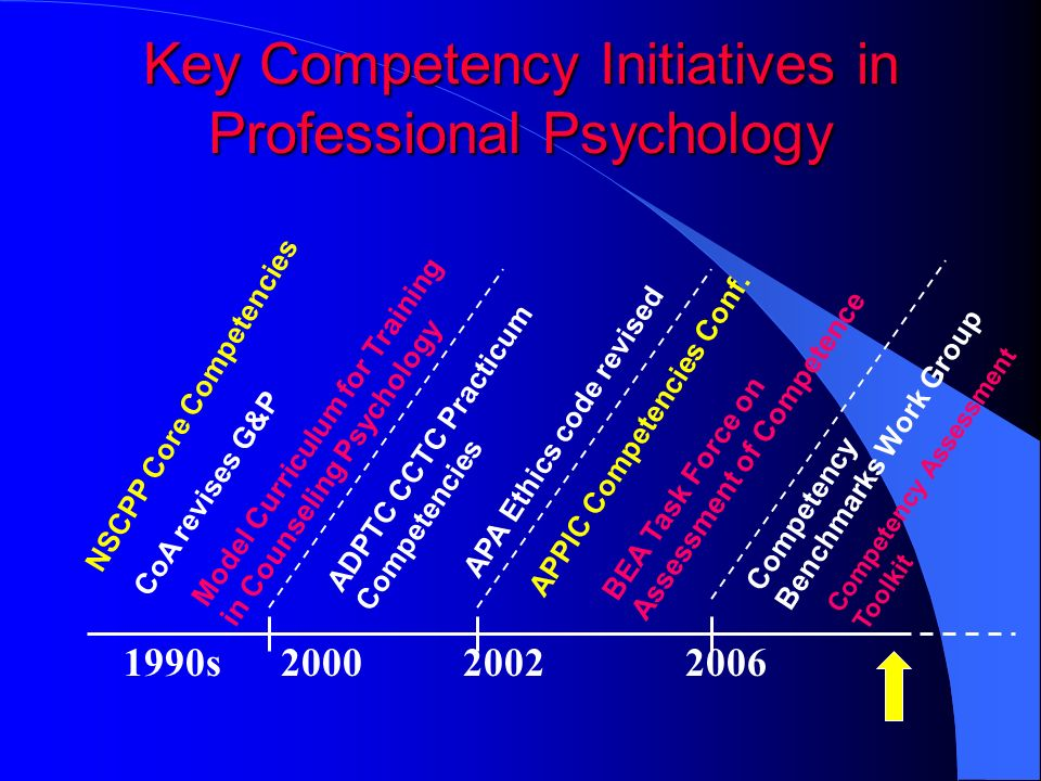 Key Competency Initiatives in Professional Psychology