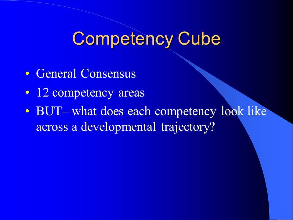 Competency Cube General Consensus 12 competency areas
