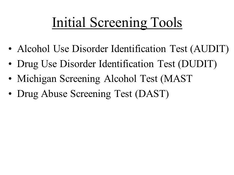 Initial Screening Tools