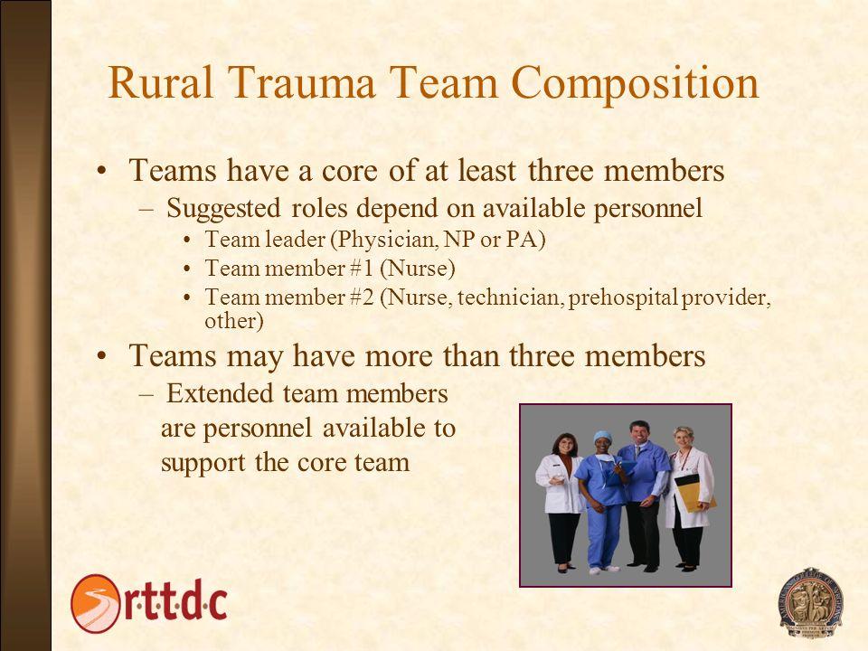 Rural Trauma Team Composition