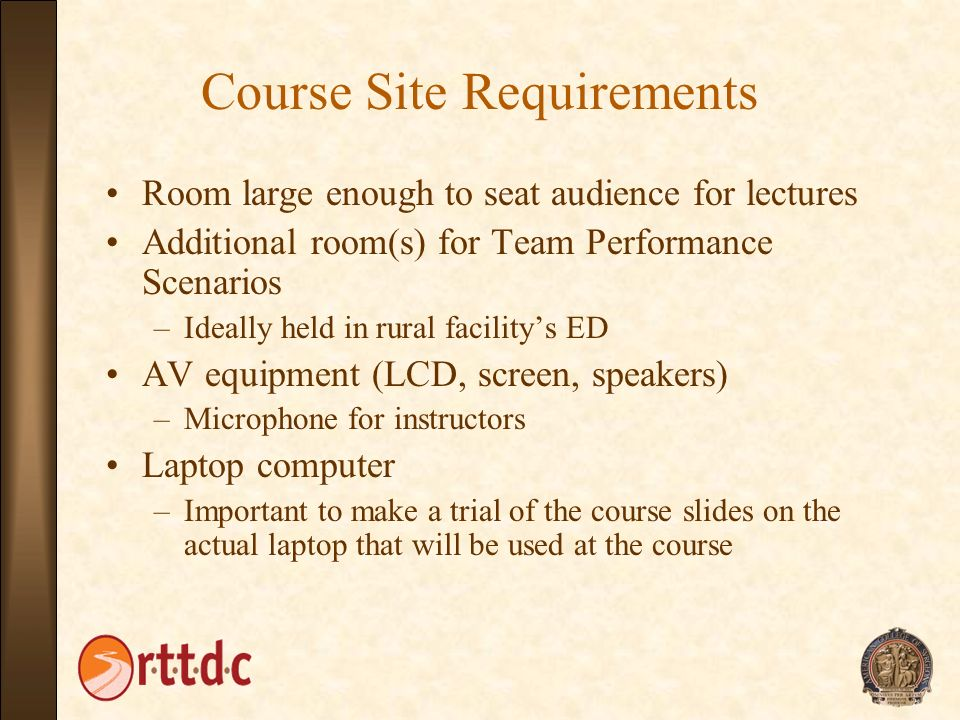 Course Site Requirements