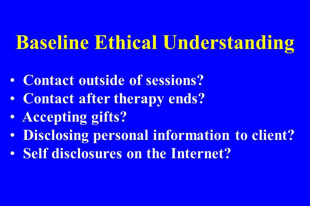 Baseline Ethical Understanding