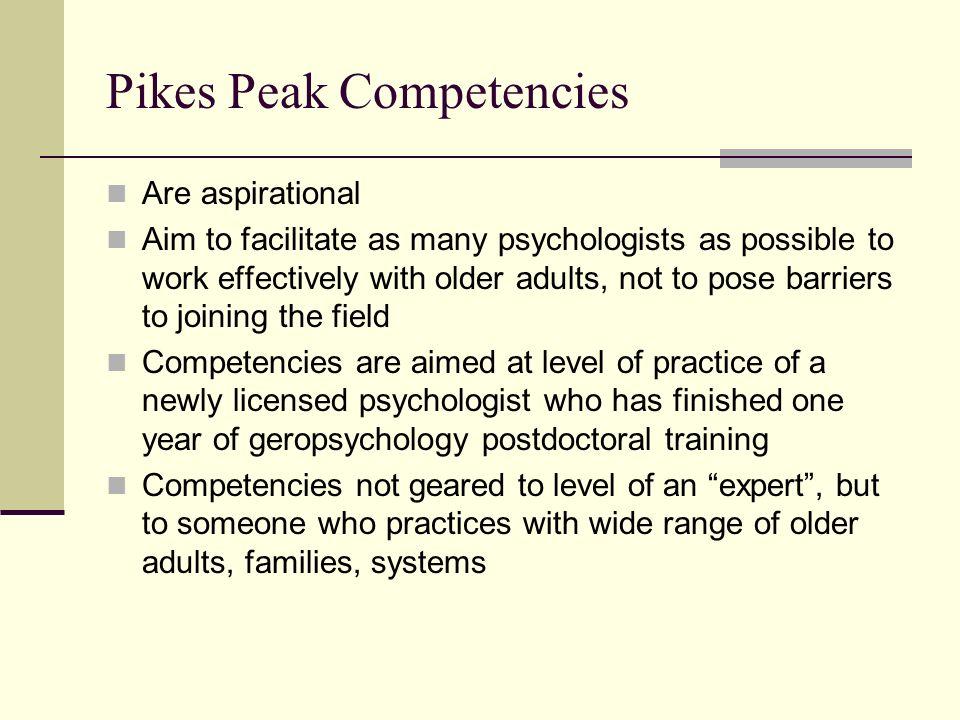 Pikes Peak Competencies
