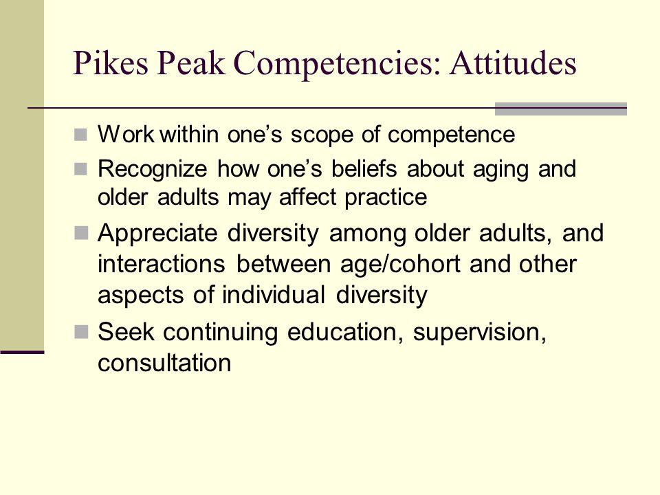 Pikes Peak Competencies: Attitudes