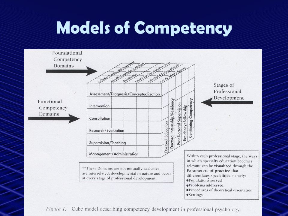 Models of Competency