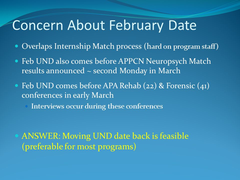 Concern About February Date