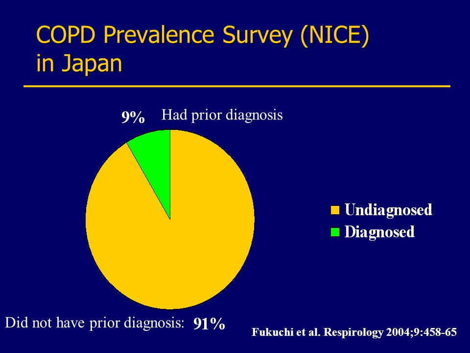 COPD Prevalence Survey (NICE) in Japan
