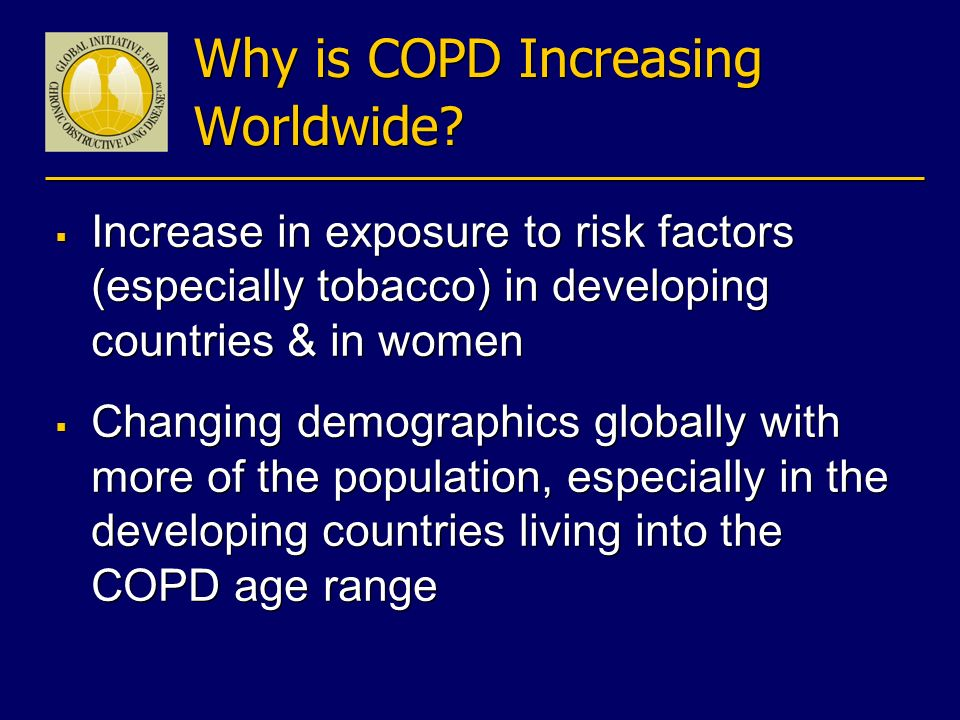 Why is COPD Increasing Worldwide