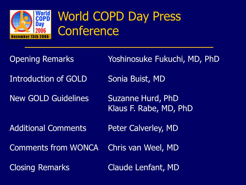 World COPD Day Press Conference