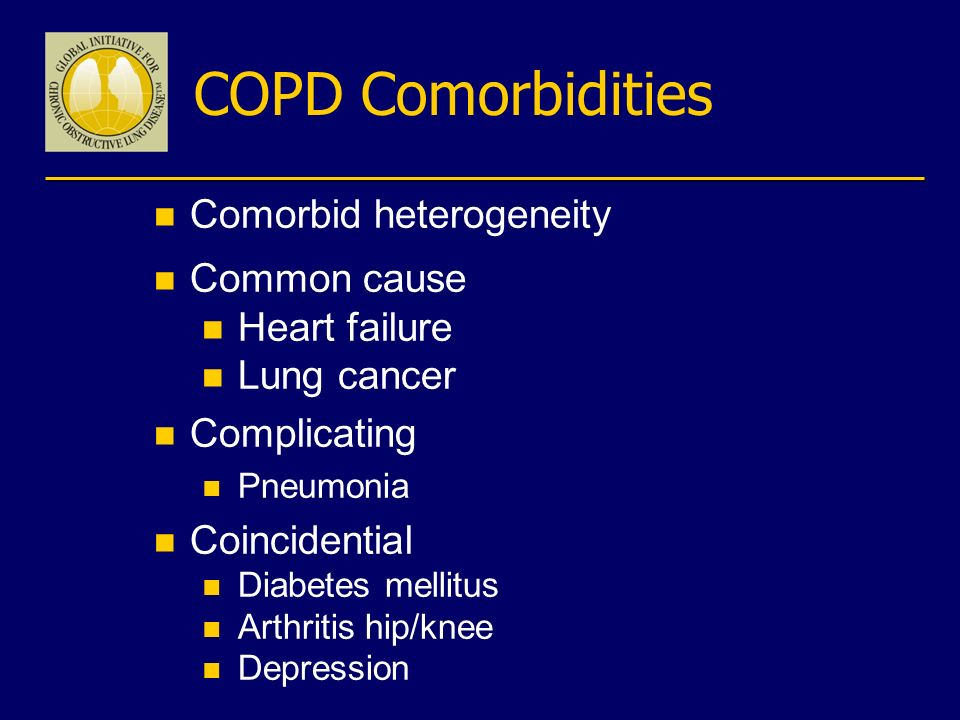 COPD Comorbidities Comorbid heterogeneity Common cause Heart failure
