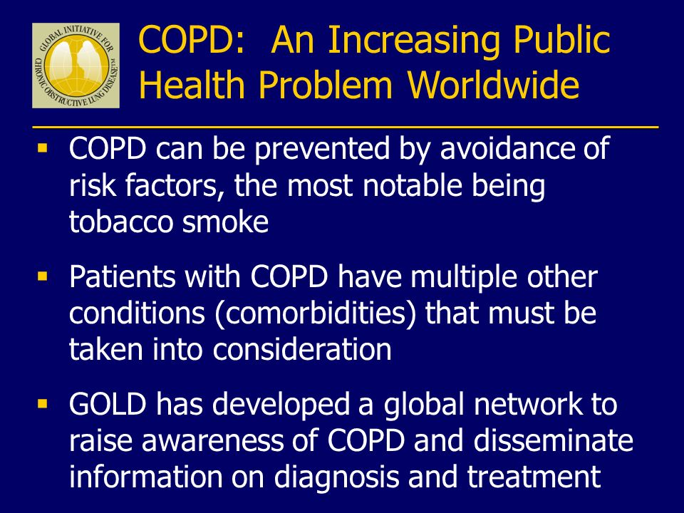 COPD: An Increasing Public Health Problem Worldwide