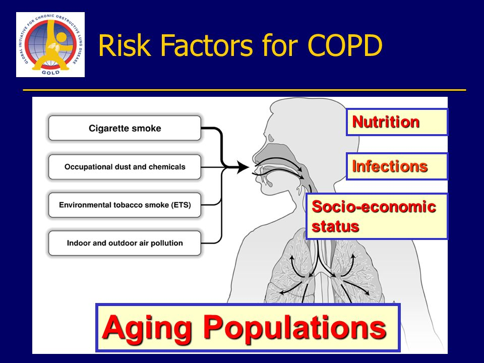 Aging Populations Risk Factors for COPD Nutrition Infections