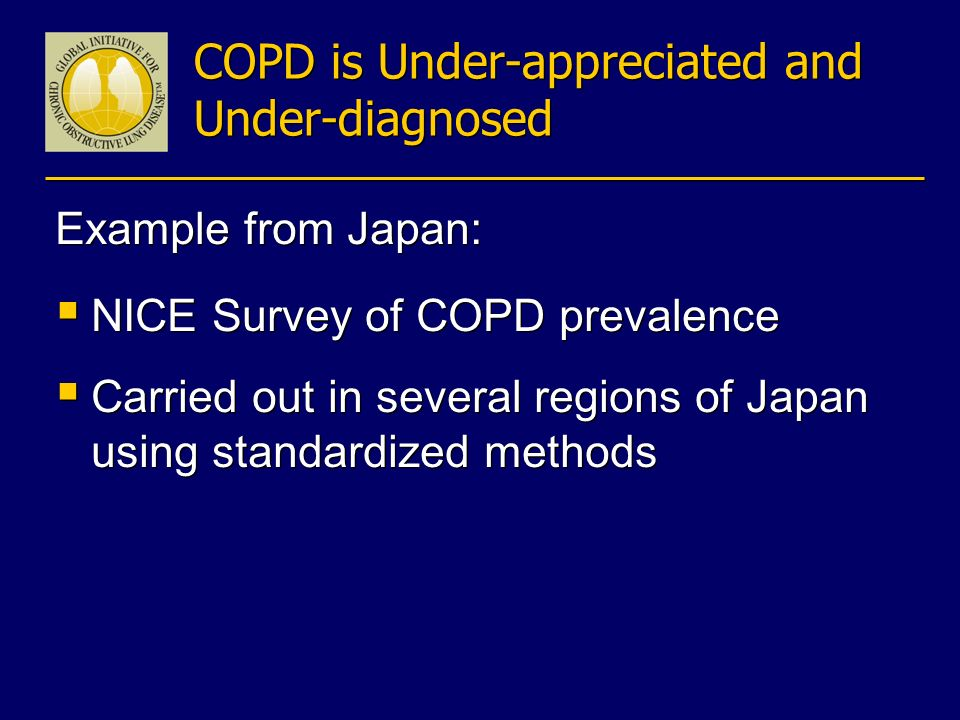 COPD is Under-appreciated and Under-diagnosed