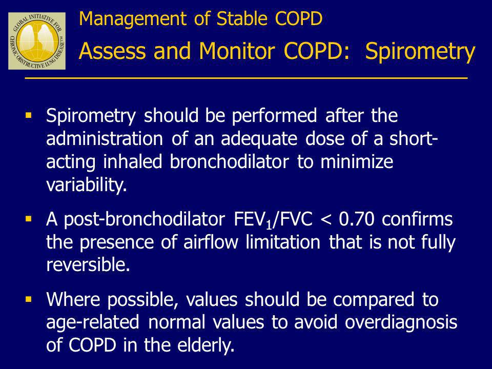 Assess and Monitor COPD: Spirometry