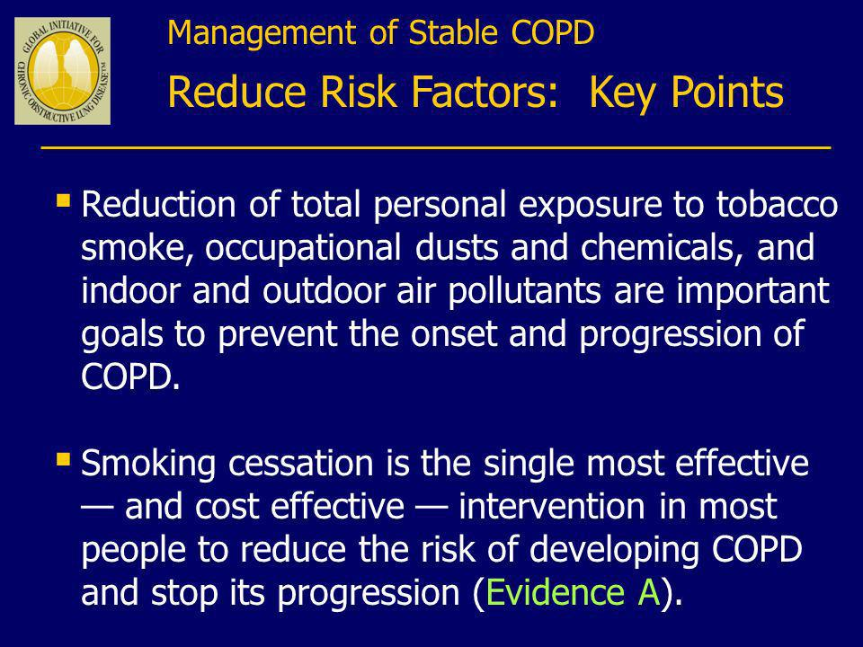 Reduce Risk Factors: Key Points