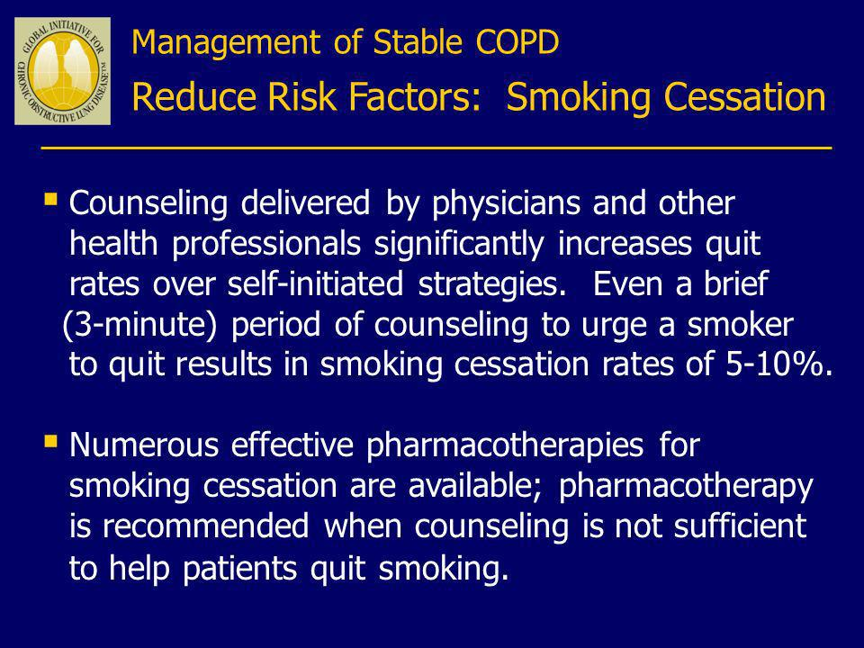 Reduce Risk Factors: Smoking Cessation