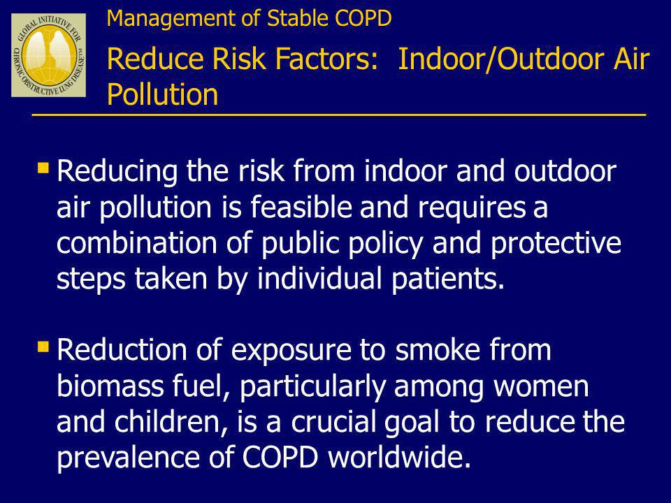 Reduce Risk Factors: Indoor/Outdoor Air Pollution
