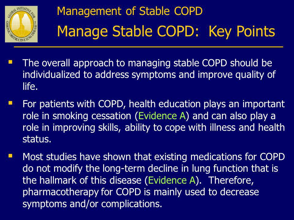 Manage Stable COPD: Key Points