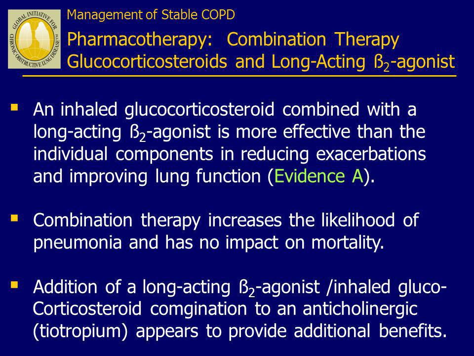 Addition of a long-acting ß2-agonist /inhaled gluco-