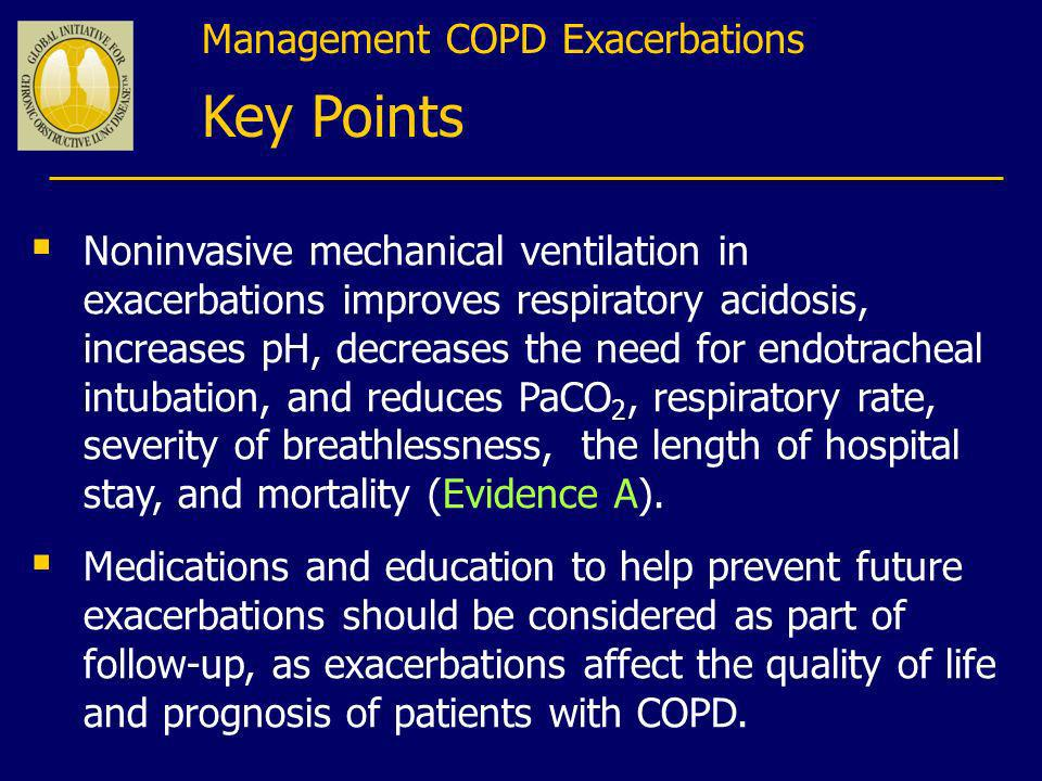 Key Points Management COPD Exacerbations