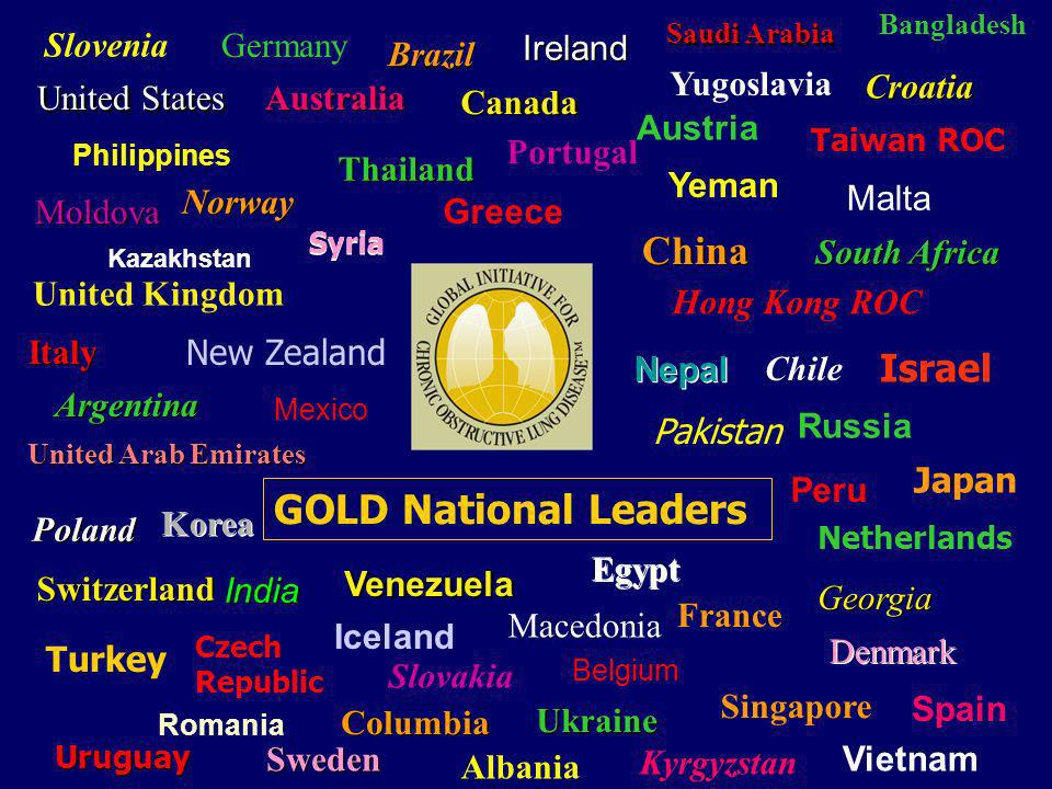 China GOLD National Leaders Israel Slovenia Germany Brazil Ireland