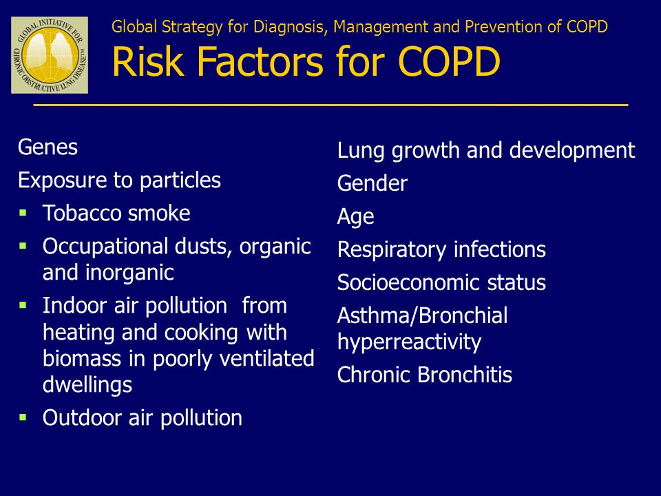Risk Factors for COPD Genes Lung growth and development