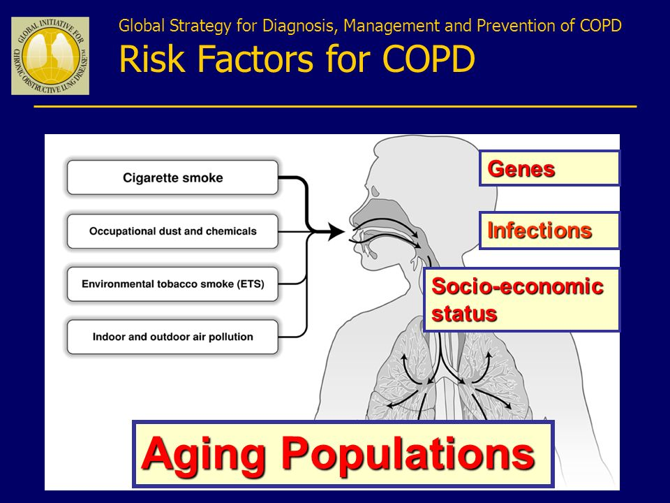 Aging Populations Risk Factors for COPD Genes Infections