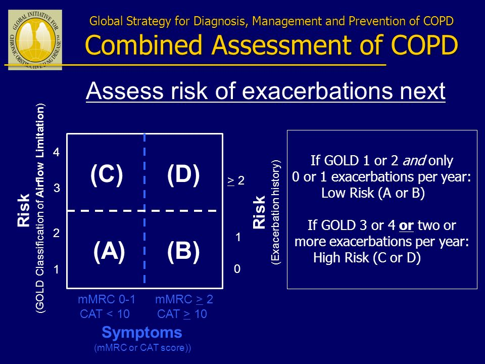 Assess risk of exacerbations next