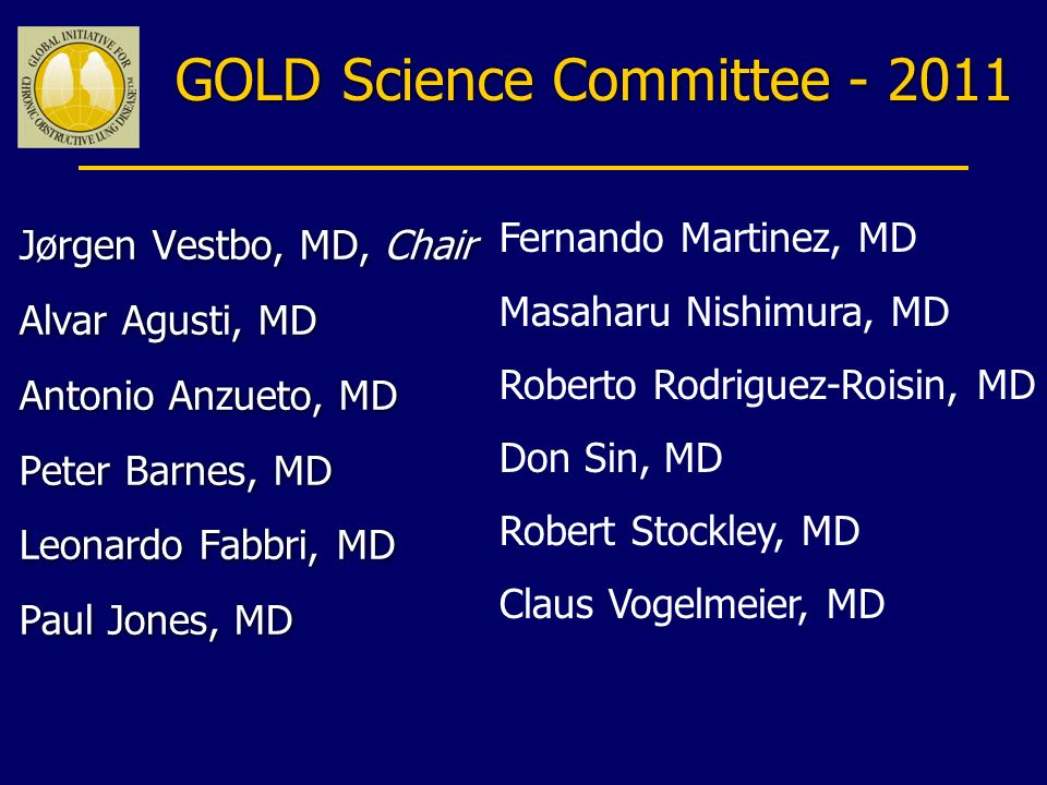 GOLD Science Committee - 2011