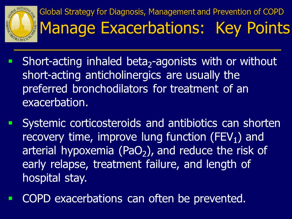 COPD exacerbations can often be prevented.