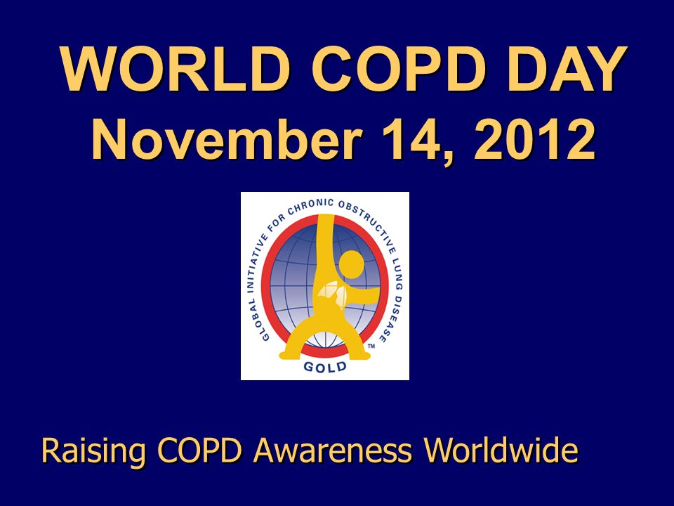 WORLD COPD DAY November 14, 2012 Raising COPD Awareness Worldwide