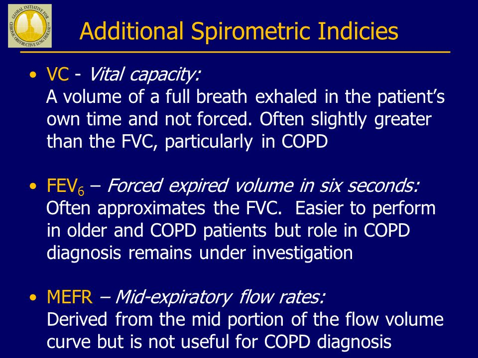 Additional Spirometric Indicies